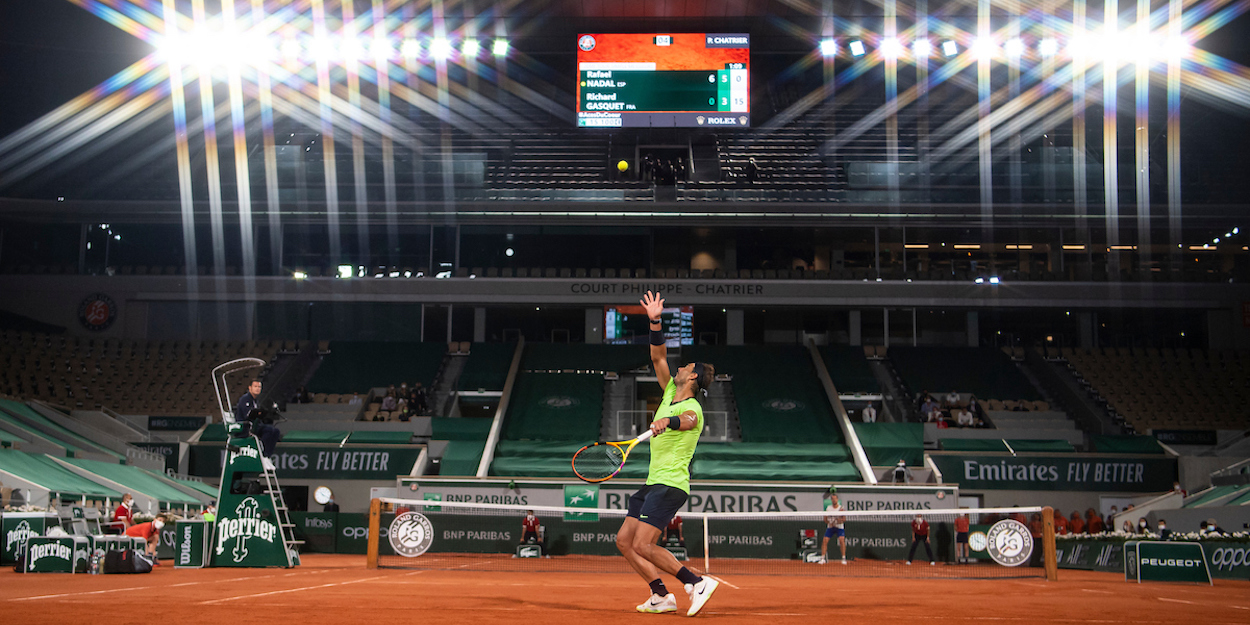 Rafael Nadal night session French Open 2021