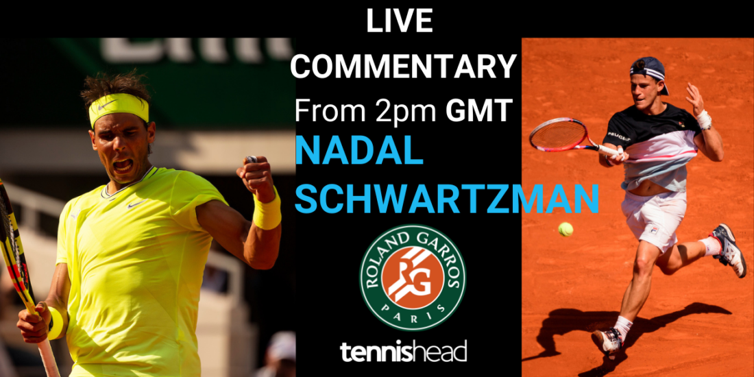 LIVE COMMENTARY: Nadal vs Schwartzman, 2pm French Open ...
