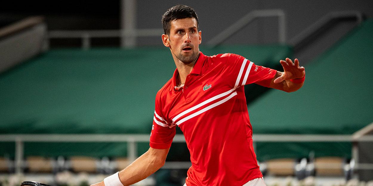 Novak Djokovic forehand French Open