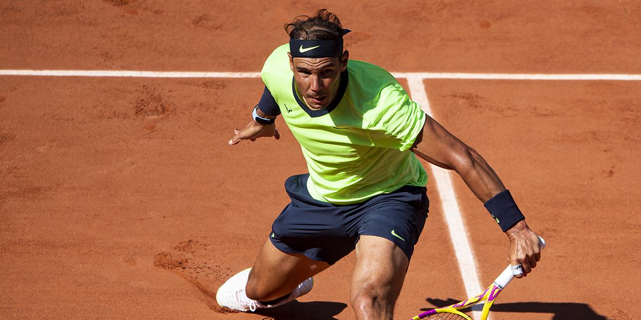 Rafael Nadal slide at French Open 2021