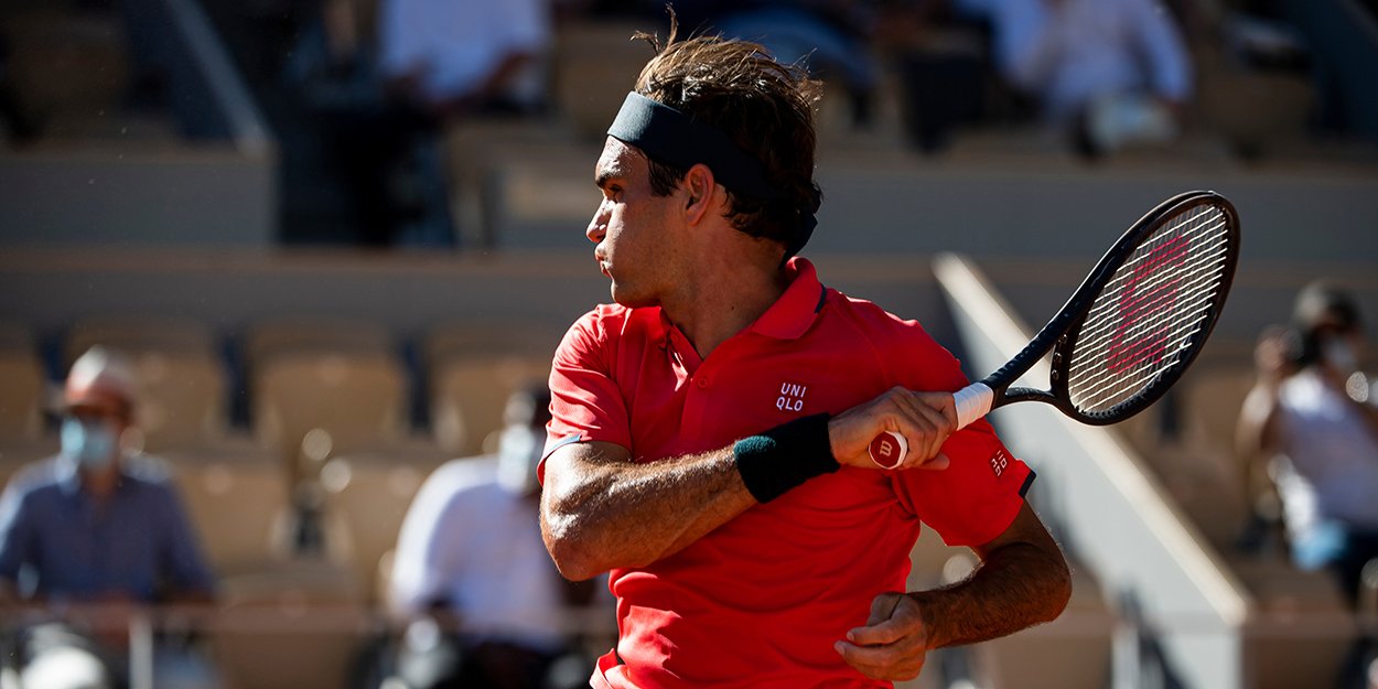 Roger Federer forehand French Open