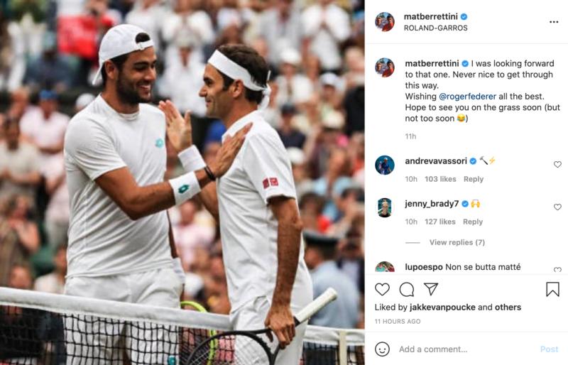 Berrettini Federer