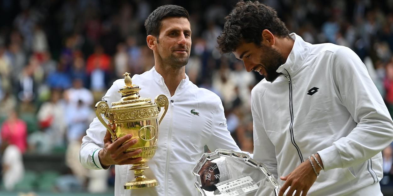 Djokovic Berrettini Wimbledon 2021