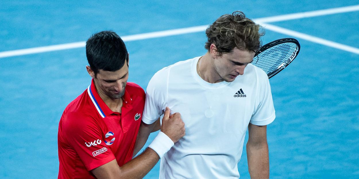 Djokovic and Zverev ATP Cup 2021