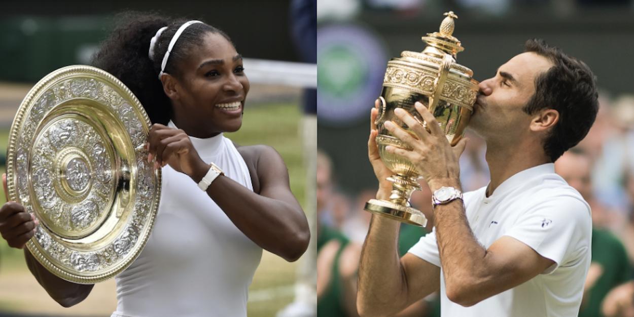 Roger Federer Serena Williams Wimbledon Champions