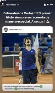 Nadal congratulates Alcaraz