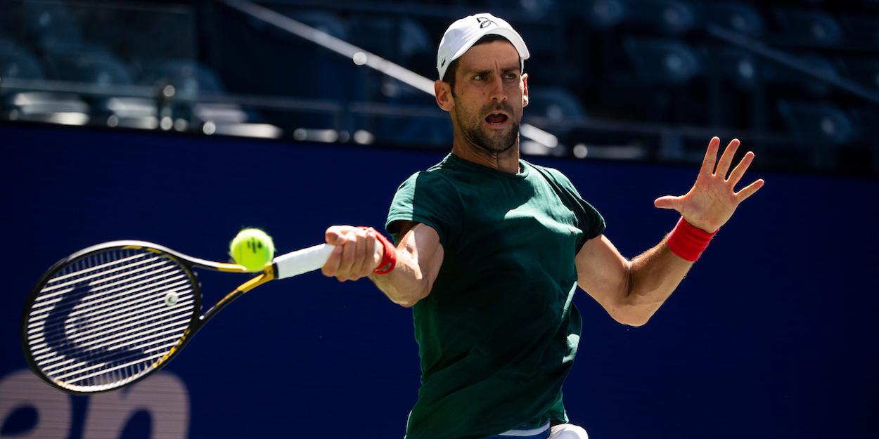 Novak Djokovic Practice US Open