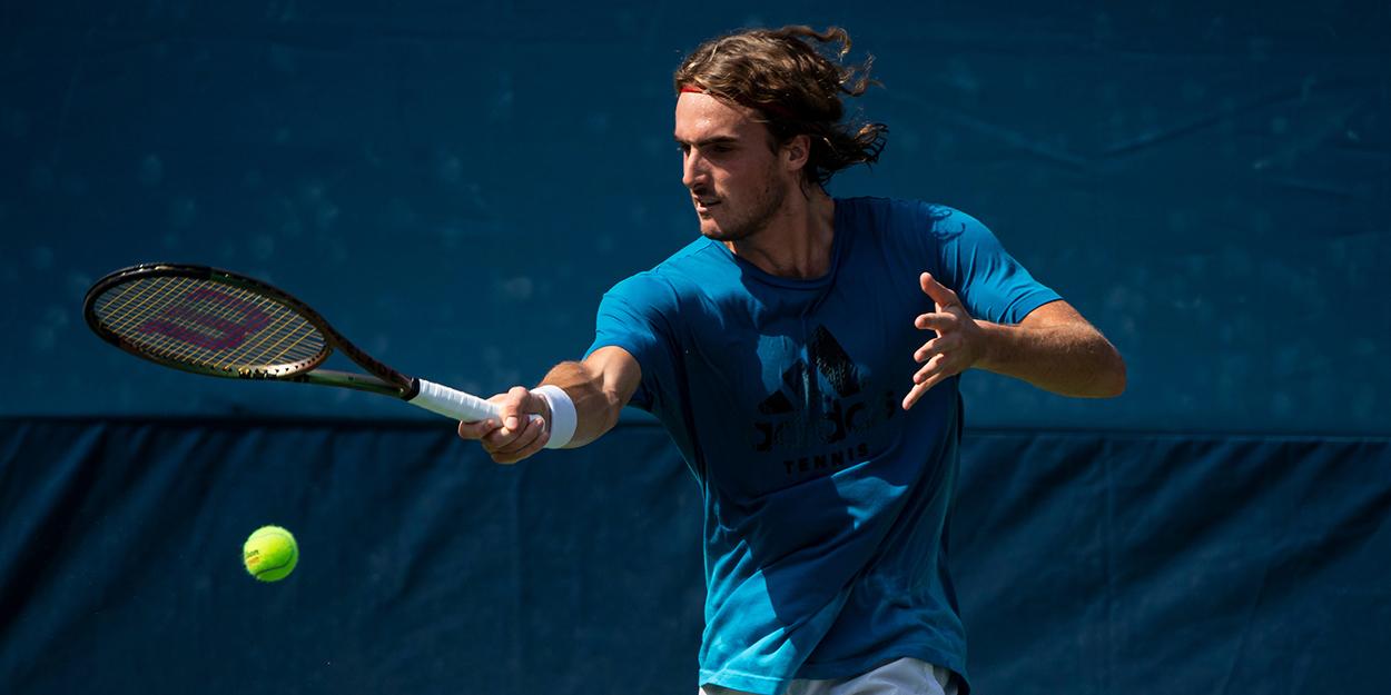 Stefanos Tsitsipas US Open practice