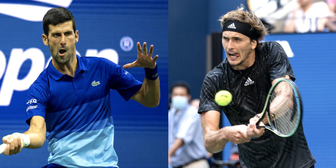 Novak Djokovic Alexander Zverev US Open 2021