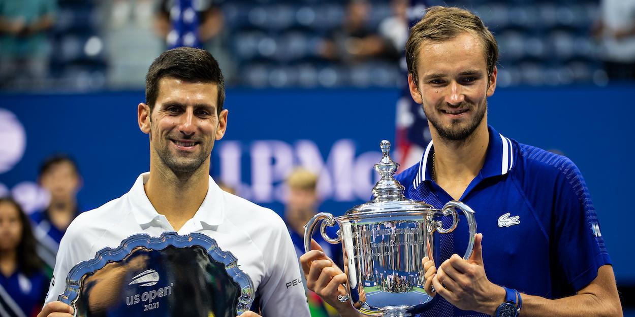 Novak Djokovic Daniil Medvedev US Open 2021