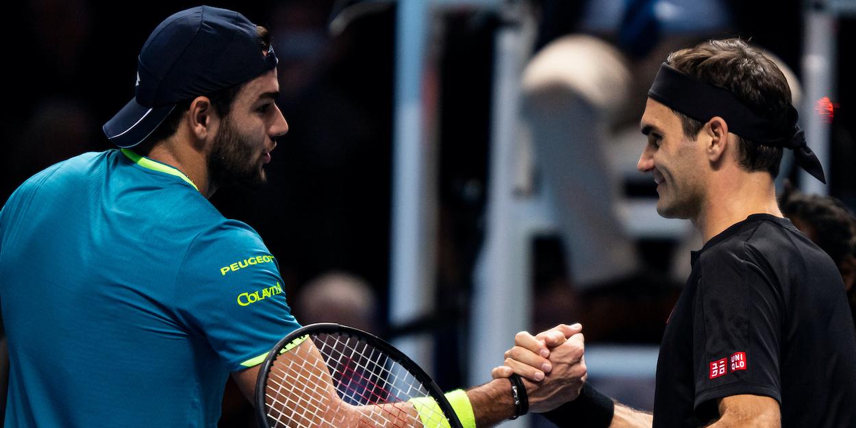 Matteo Berrettini Roger Federer ATP Finals 2019