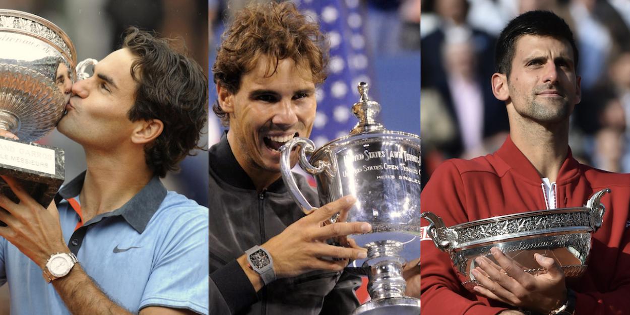 Federer Nadal Djokovic Career Slam combo