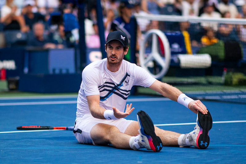 Andy Murray after slipping US Open 2021
