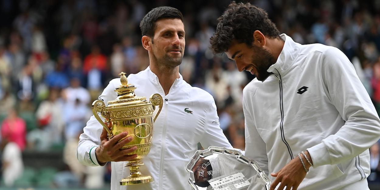 Novak Djokovic Matteo Berrettini 2021
