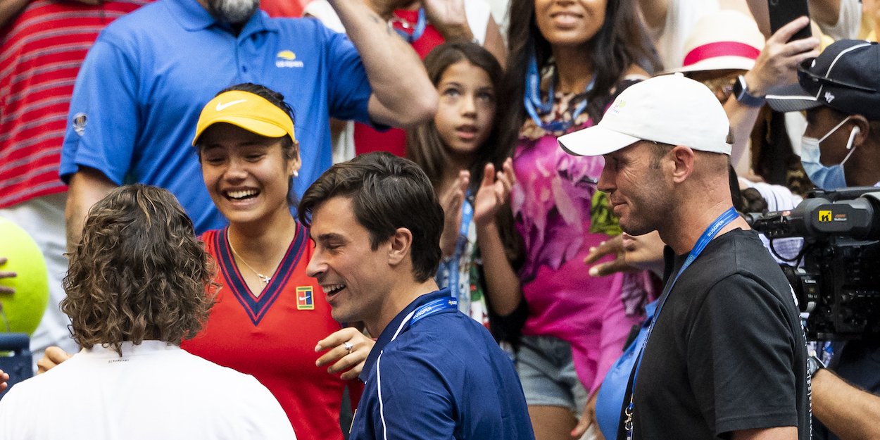 Emma Raducanu with coach at US Open