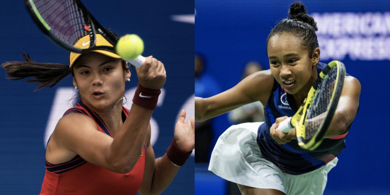 Emma Raducanu Leylah Fernandez WTA US Open 2021