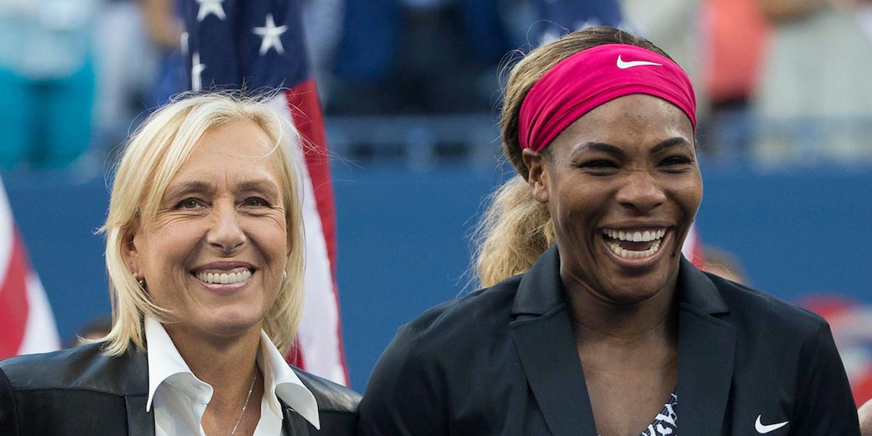 WTA legends Serena Williams Martina Navratilova US Open 2014