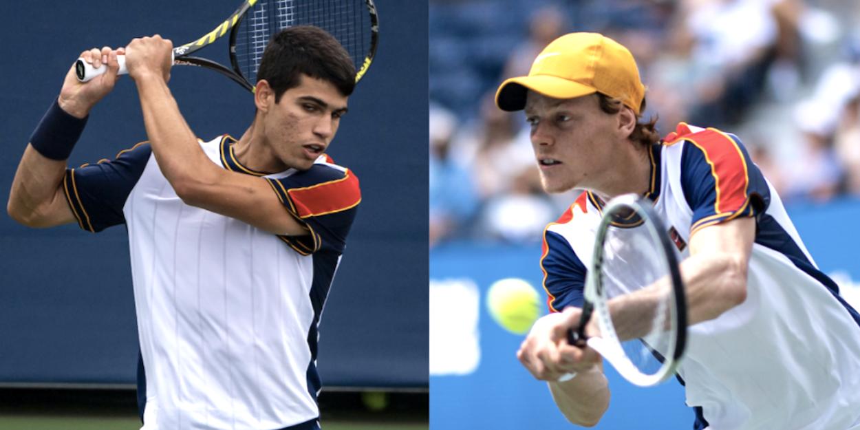 Jannik Sinner Carlos Alcaraz US Open 2021