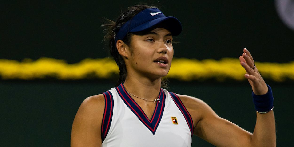Emma Raducanu Indian Wells 2021